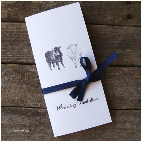 Farm Wedding Invitations A Bespoke Cow Wedding Invitation by