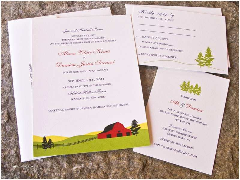 Farm Wedding Invitations Ali Damien S Farm and Americana Inspired Wedding Invitations