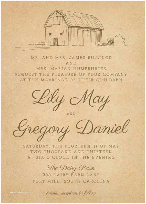 Farm Wedding Invitations Best 25 Barn Wedding Invitations Ideas On Pinterest