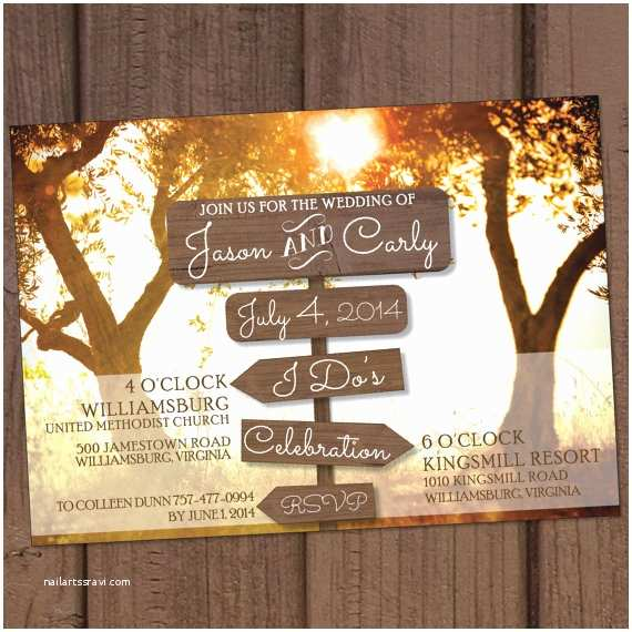 Farm Wedding Invitations Country Farm Wooden Signs Wedding Invitation