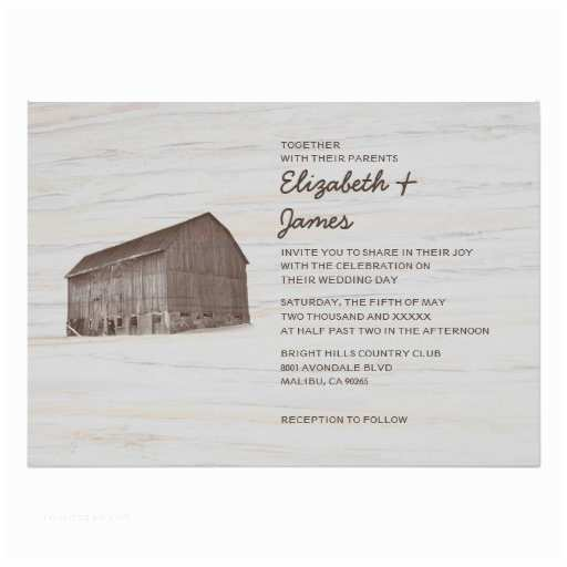 "Farm Wedding Invitations Elegant Farm Wedding Invitations 5"" X 7"" Invitation Card"