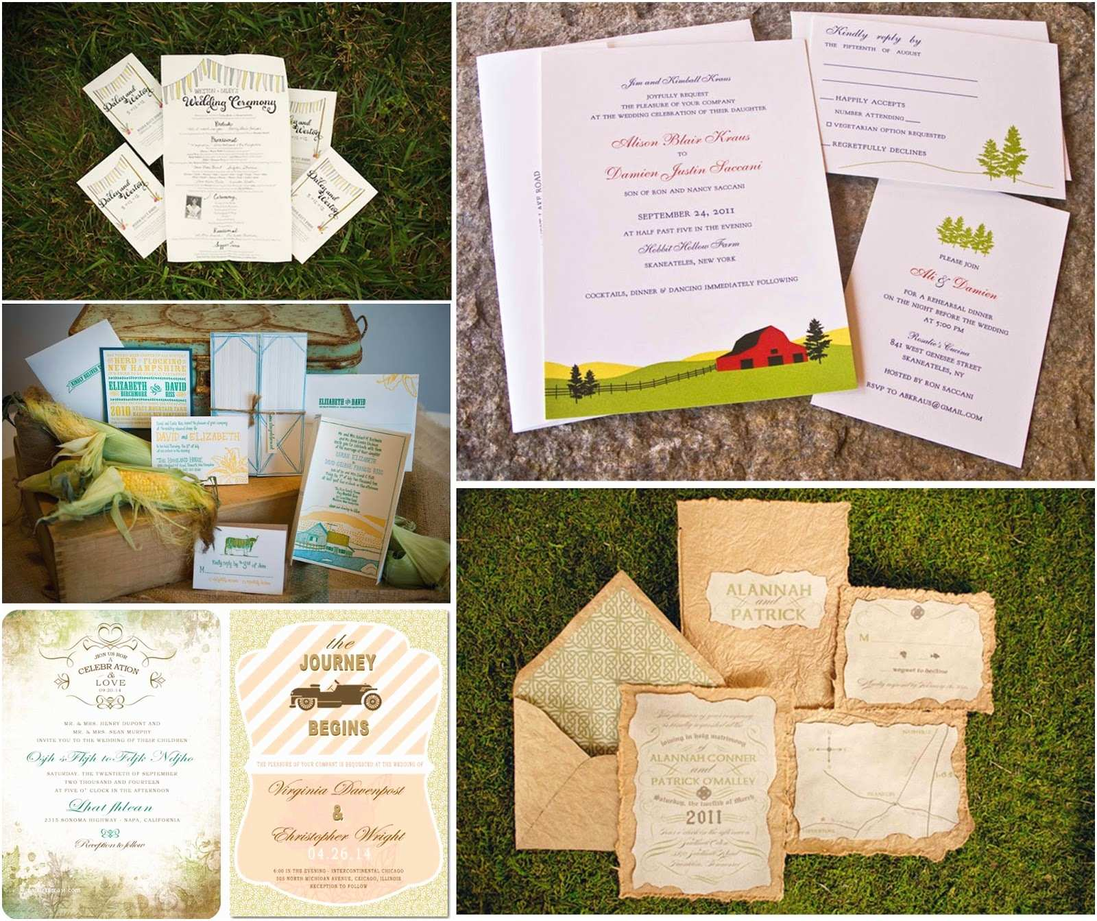Farm Wedding Invitations Farm themed Wedding Invitations Home Decor Takcop