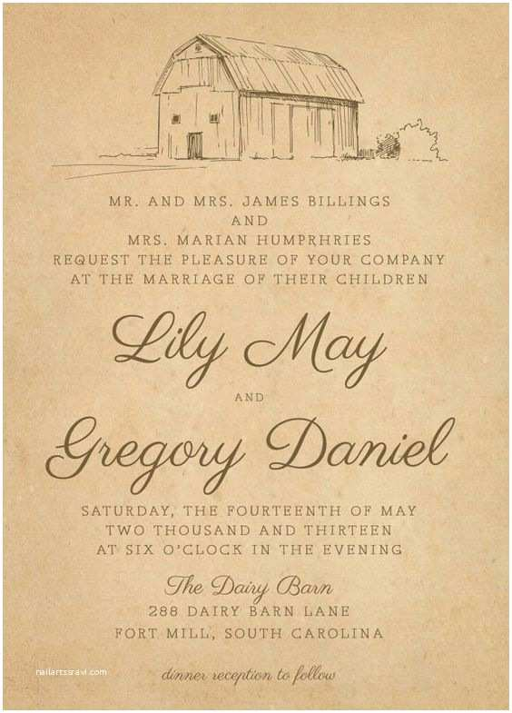 Farm Wedding Invitations Invitations Vintage and Stone Houses On Pinterest