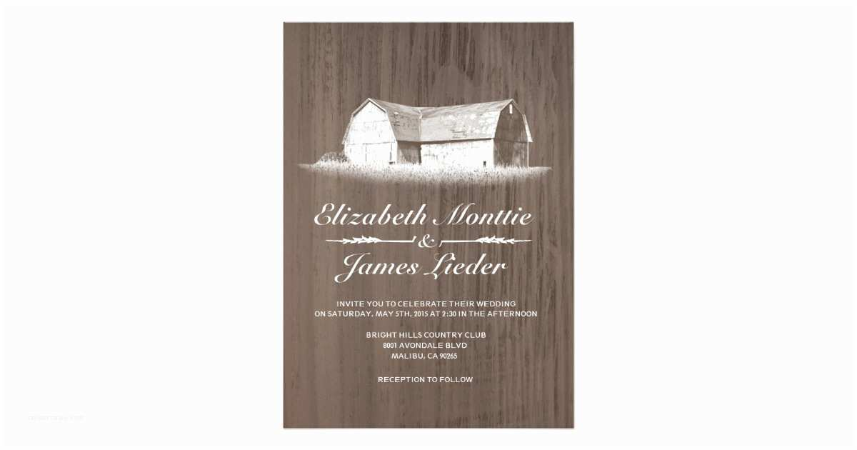 Farm Wedding Invitations Modern Farm Wedding Invitations