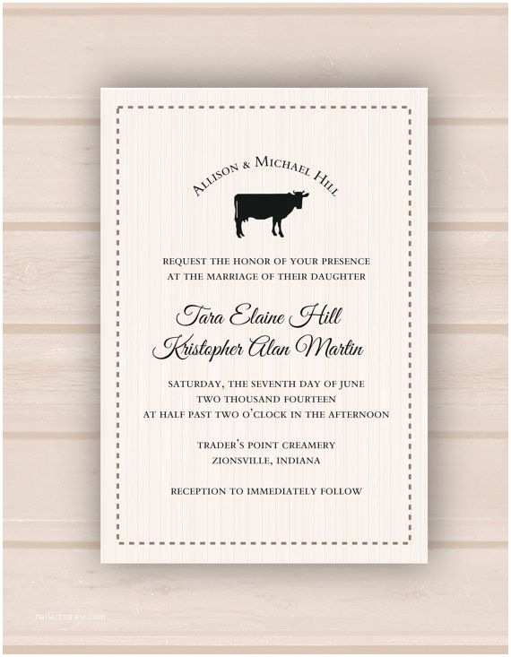 Farm Wedding Invitations Printable Digital Rustic Farm Wedding Invitation these