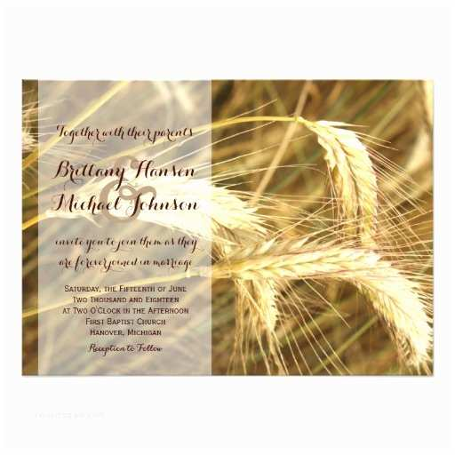 Farm Wedding Invitations Rustic Country Wheat Field Farm Wedding Invitation