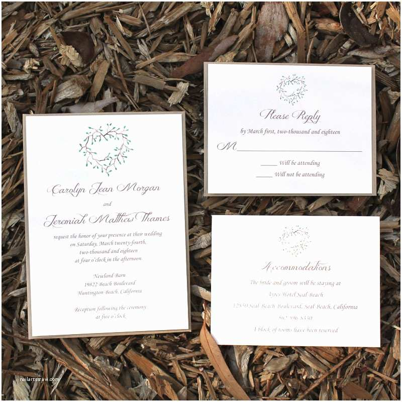 Farm Wedding Invitations Rustic Farm Wedding Invitation Citrine Designs