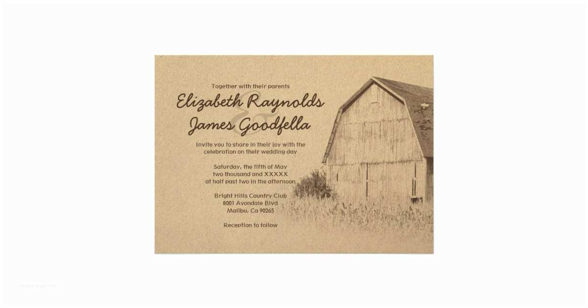 Farm Wedding Invitations Simple Farm Wedding Invitations