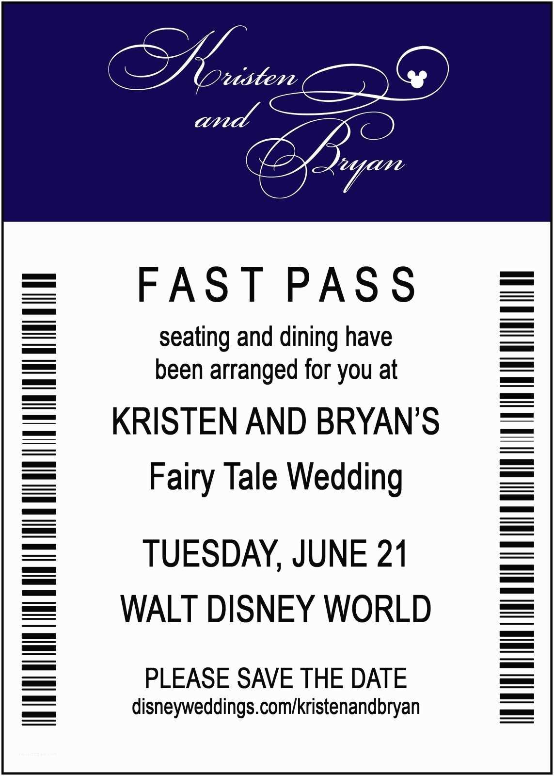 Fast Wedding Invitations Disney Save the Date Ideas