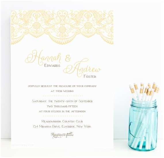 Fast Wedding Invitations Lace Wedding Invitation Fast Lace Wedding by Whimsicalprints