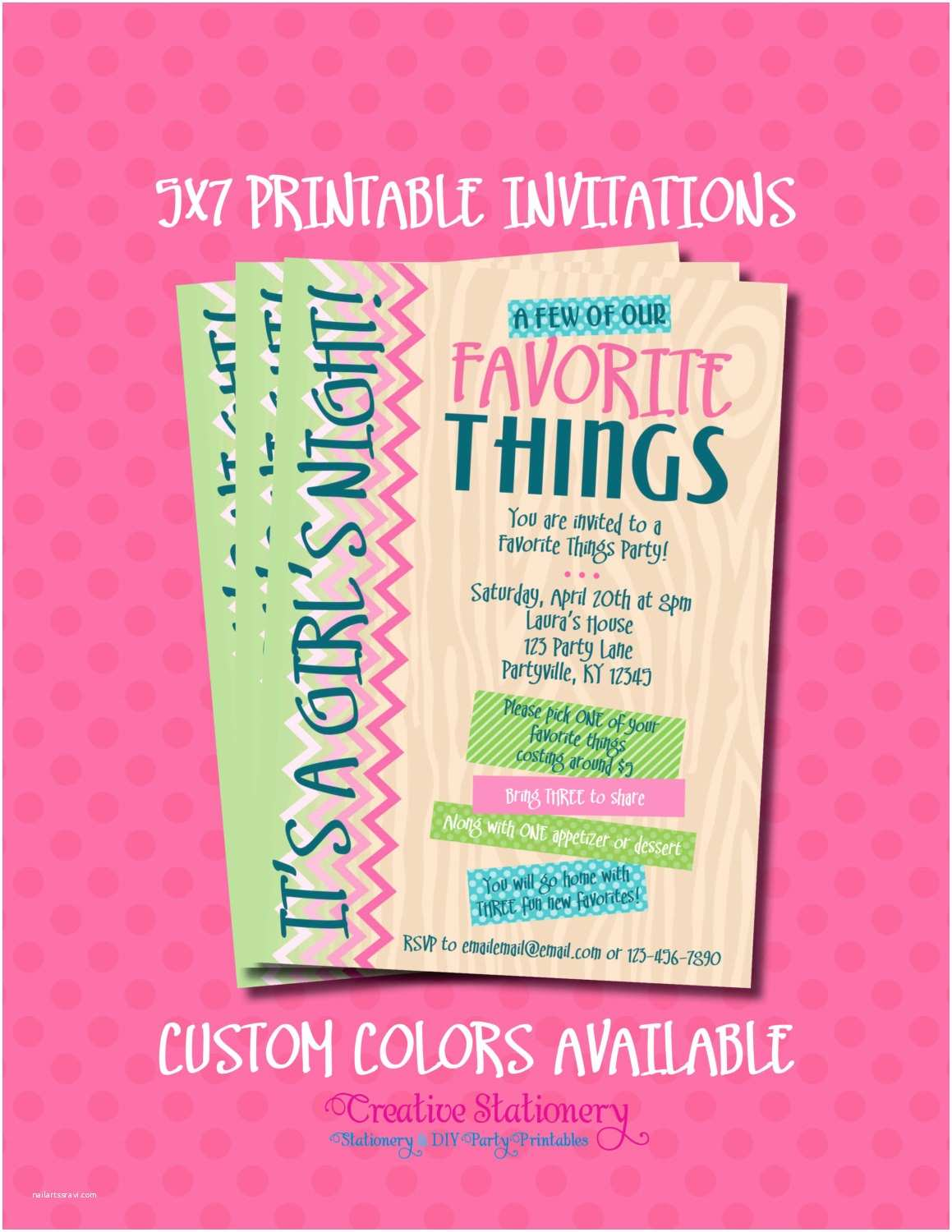 Favorite Things Party Invitation Favorite Things Party Invitations Printable by