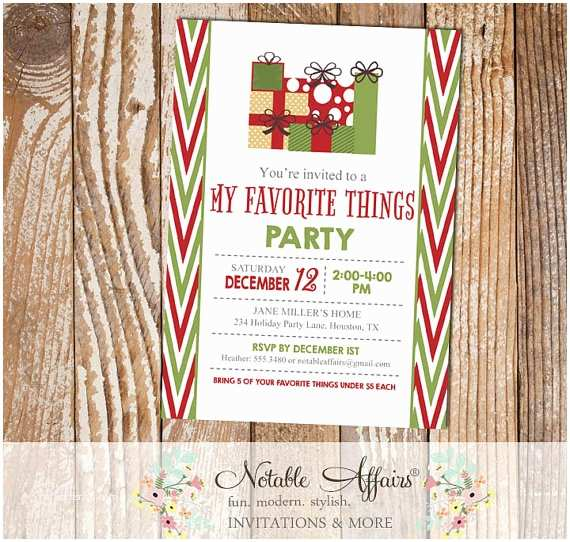 Favorite Things Party Invitation Items Similar to Side Chevron My Favorite Things Party