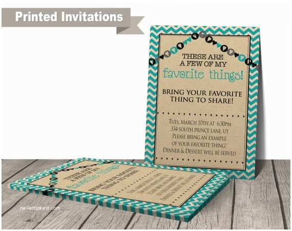 printed favorite things party invitation