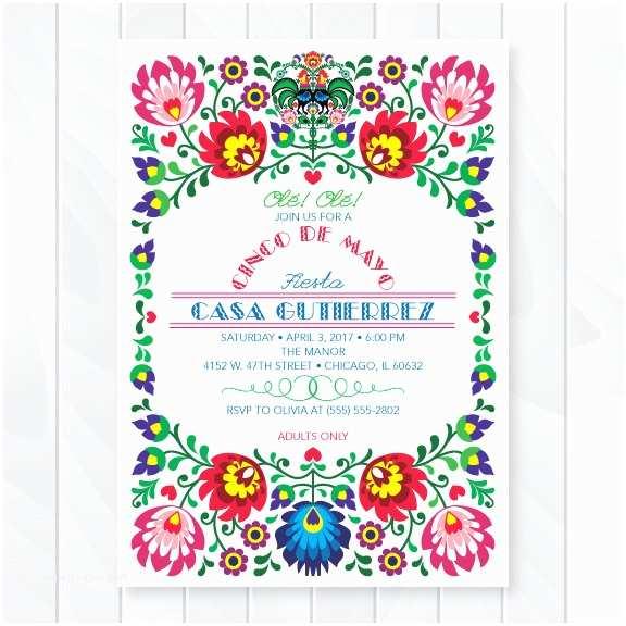 Fiesta Baby Shower Invitations Cinco De Mayo Fiesta Invitation