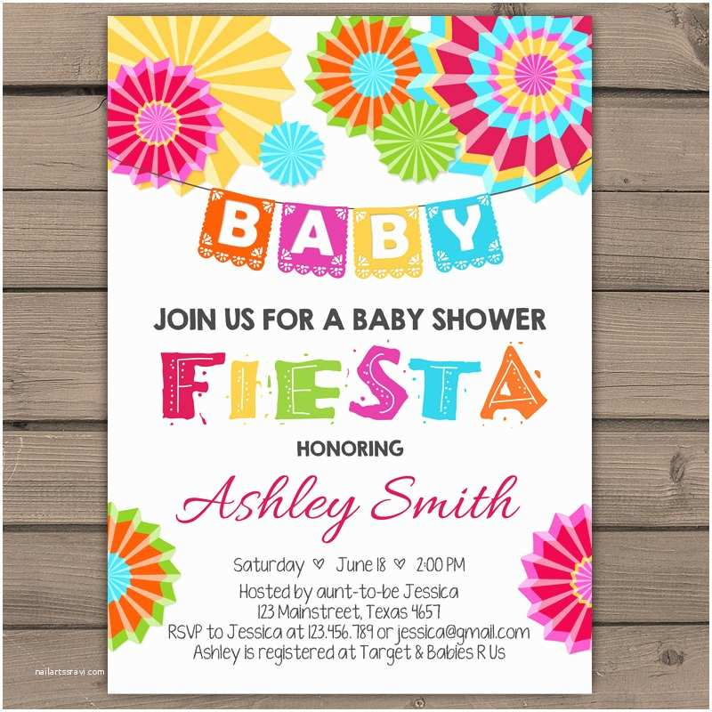 fiesta baby shower invitation mexican