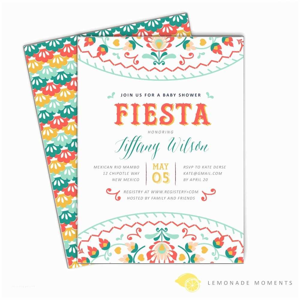Fiesta Baby Shower Invitations Fiesta Baby Shower Invitation Mexican Fiesta by