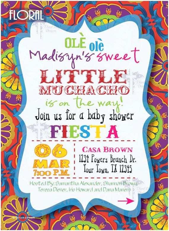 Fiesta Baby Shower Invitations Fiesta Baby Shower Invitations by Thirddaydesigns On Etsy