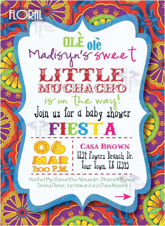 Fiesta Baby Shower Invitations Fiesta Baby Shower Invitations