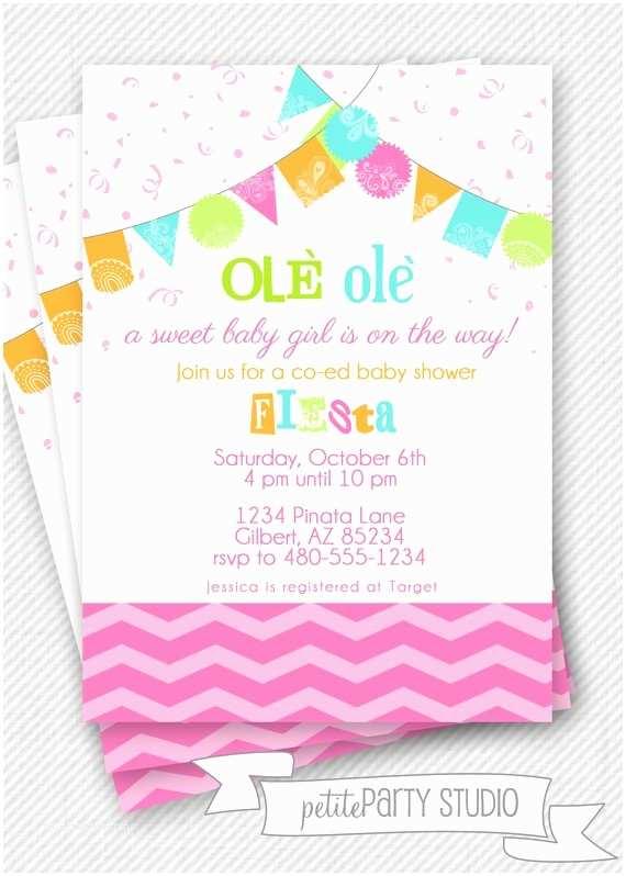 Fiesta Baby Shower Invitations Fiesta Party Printable Baby Shower Invite Petite Party