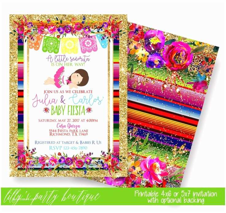 Fiesta Baby Shower Invitations the 25 Best Mexican Invitations Ideas On Pinterest