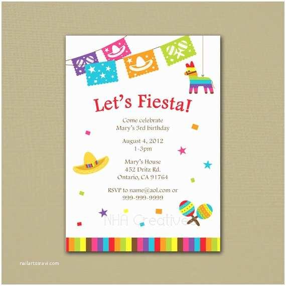 Fiesta Birthday Invitations Fiesta Birthday Invitation Personalized Diy by Nhacreatives