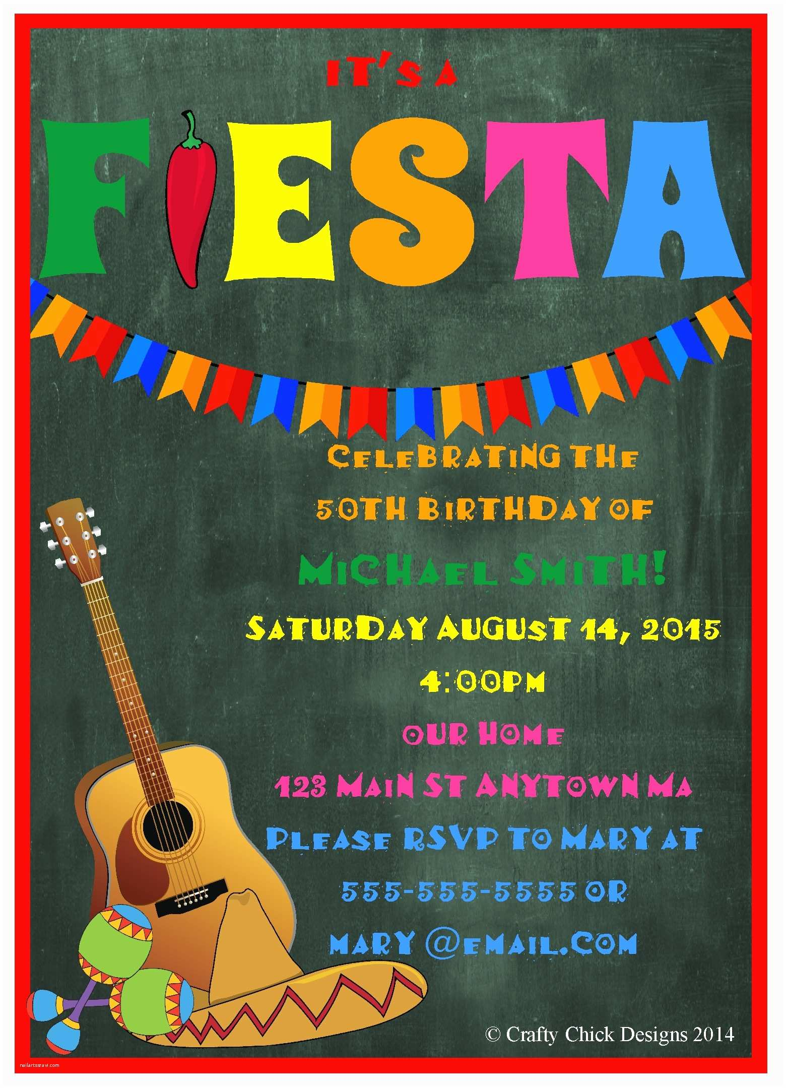 Fiesta Birthday Invitations Fiesta Birthday Party Invitations