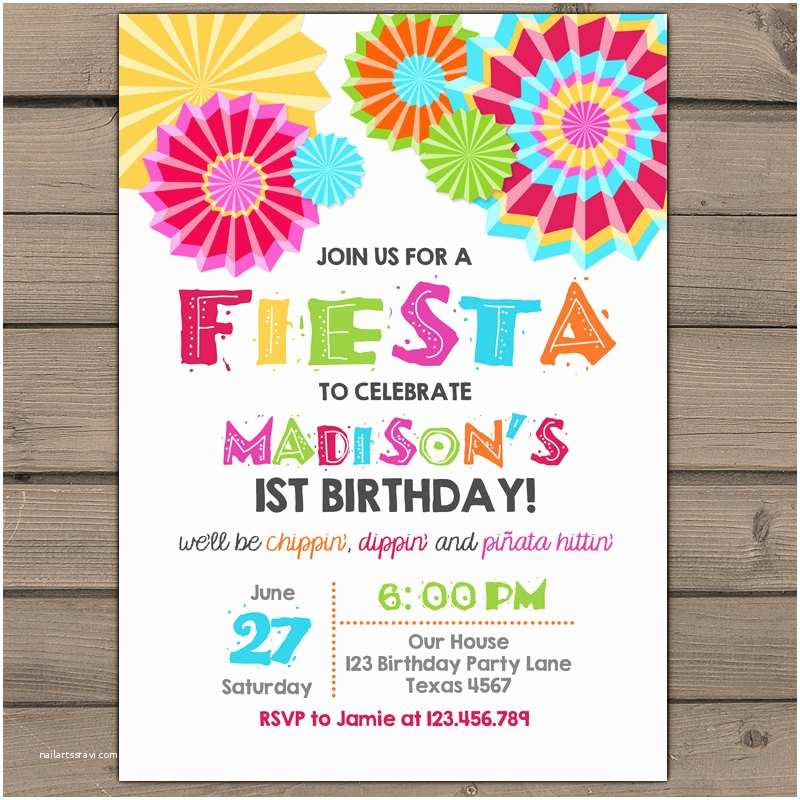 Fiesta Birthday Invitations Fiesta Invitation Fiesta Birthday Party Fiesta Birthday