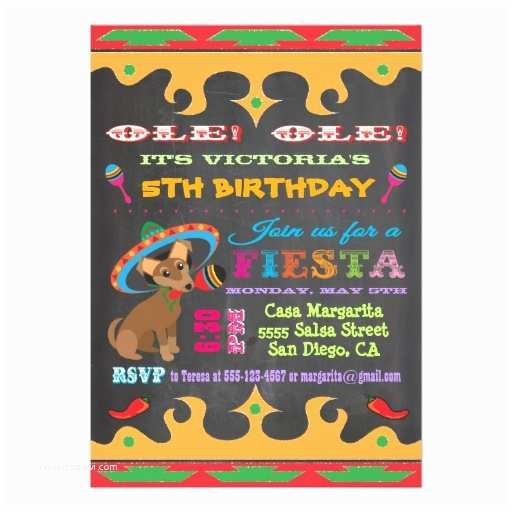 Fiesta Birthday Invitations Mexican Fiesta Birthday Invitations