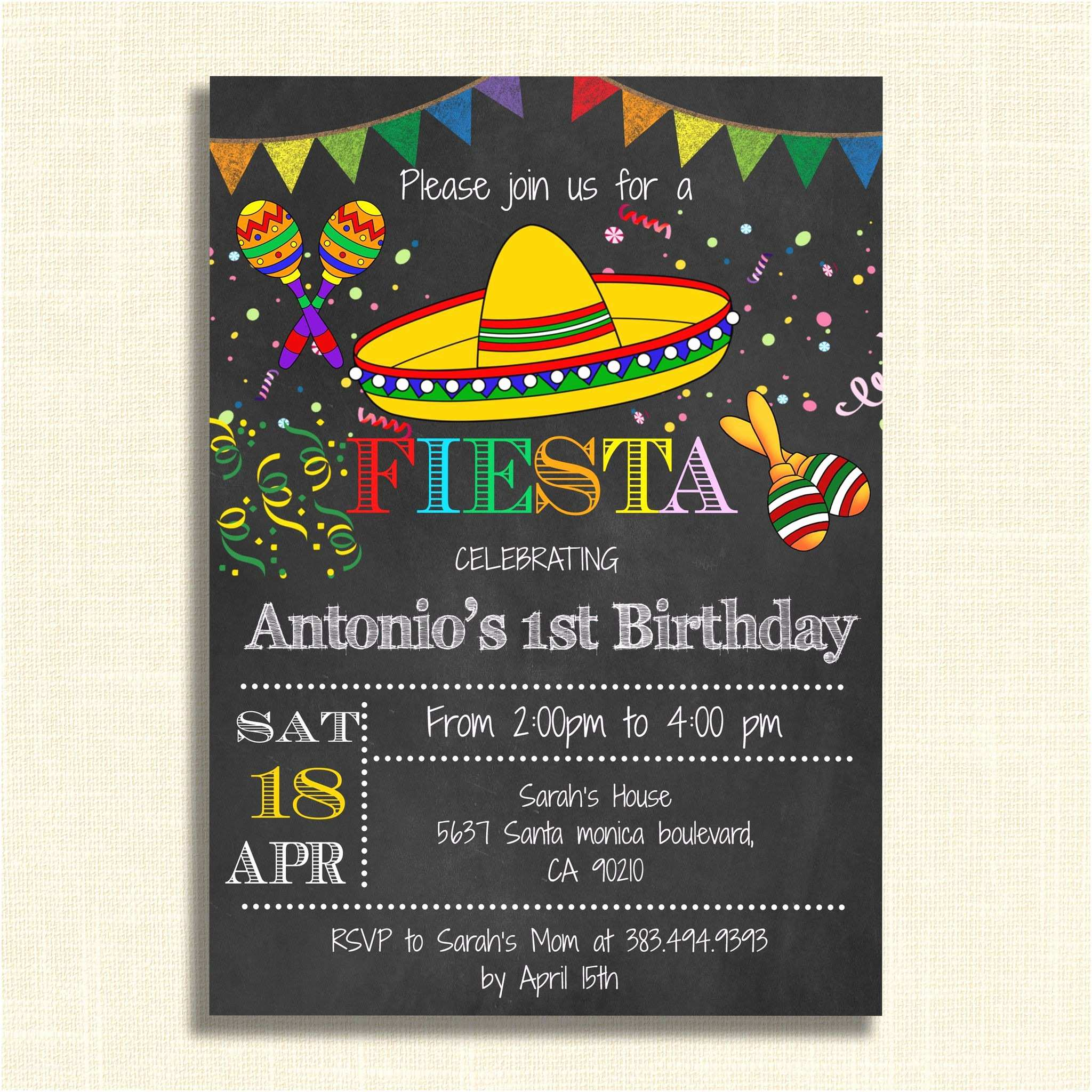 Fiesta Birthday Invitations Printable Mexican Fiesta Party Invitations – Diy Party