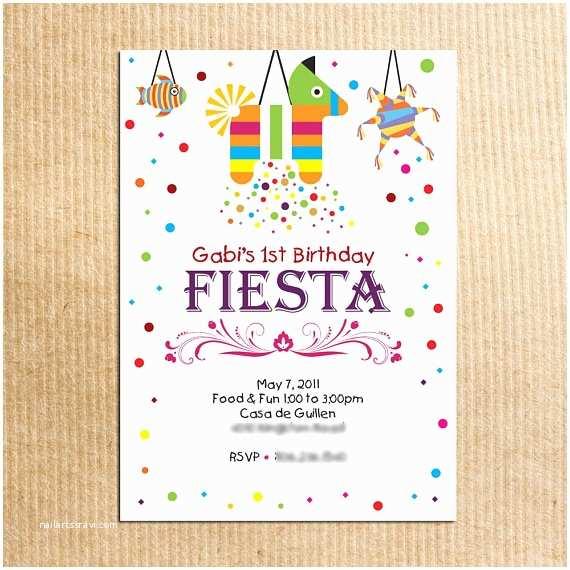 Fiesta Party Invitations Childrens Fiesta Birthday Party Invitation Stationery by