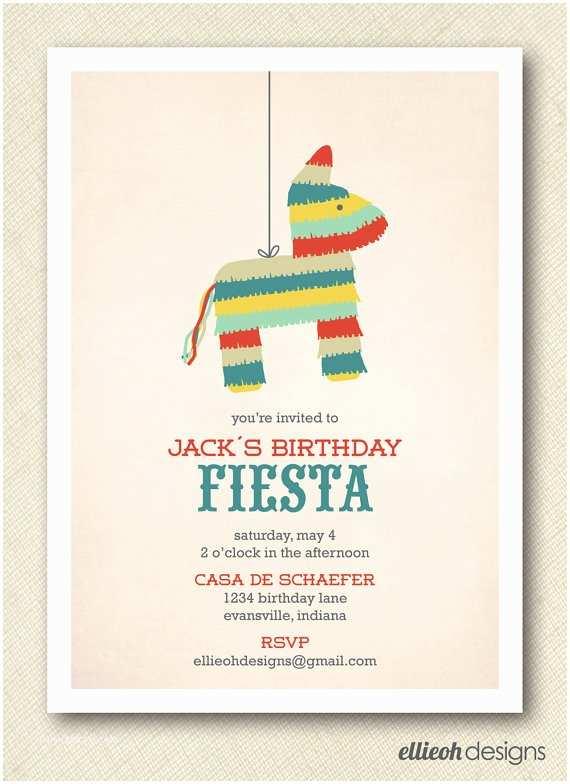 Fiesta Party Invitations Fiesta Cinco De Mayo Pinata Birthday Invite Printable Digital