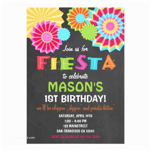Fiesta Party Invitations Fiesta Mexican Birthday Party Invitation