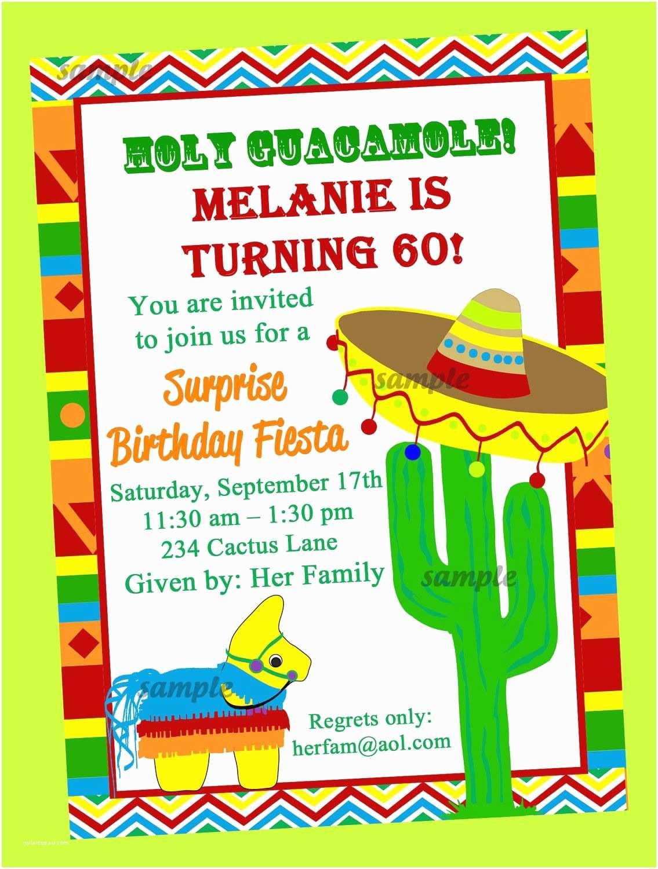 Fiesta Party Invitations Fiesta Party Invitation Printable Birthday by