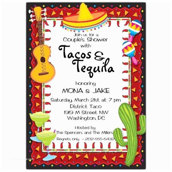 Fiesta Party Invitations Mexican Party Fiesta Invitations