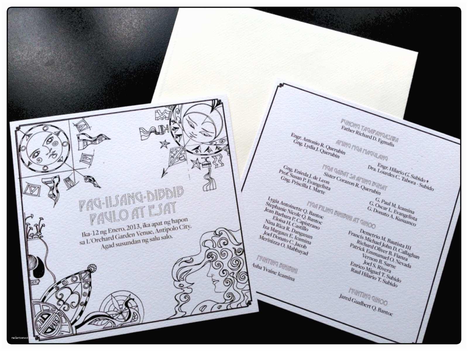 Filipino Wedding Invitation Sample 18 Inspirational Filipino Wedding Invitation Free