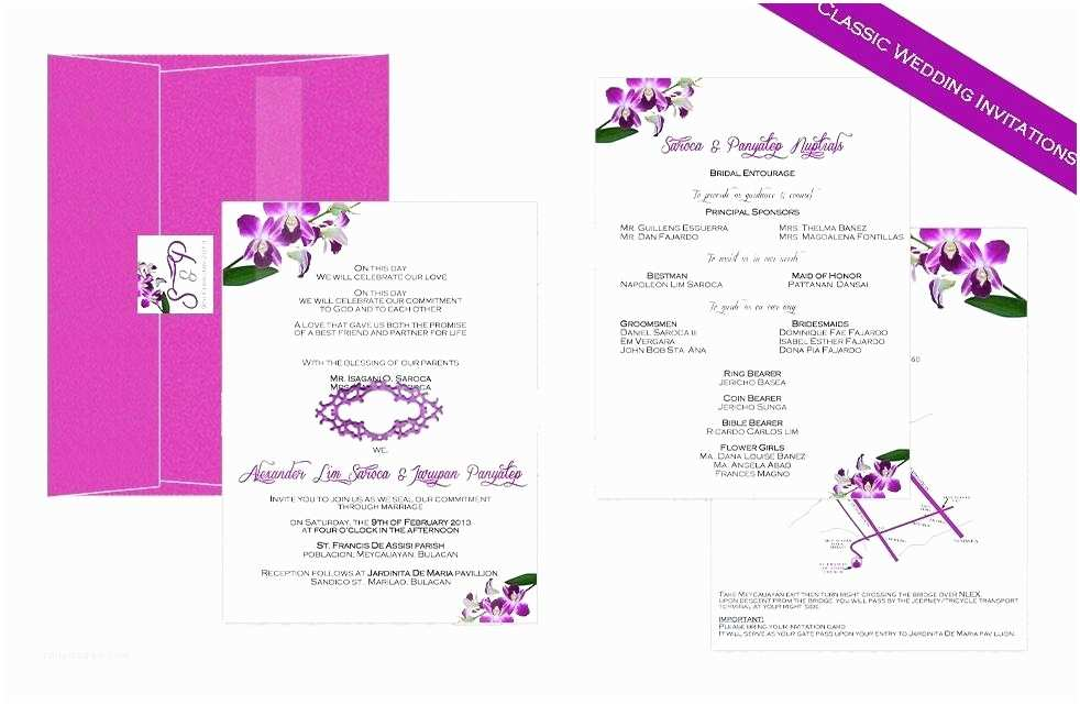 Filipino Wedding Invitation Sample Fantastic Philippine Wedding Invitations Frieze