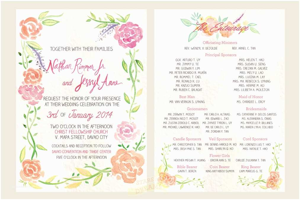 Filipino Wedding Invitation Sample 10 Excellent