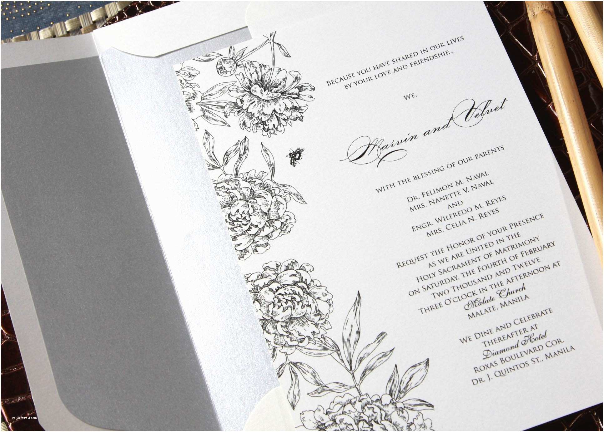 Filipino Wedding Invitation Sample Wedding Invitation Sample In the Philippines Image