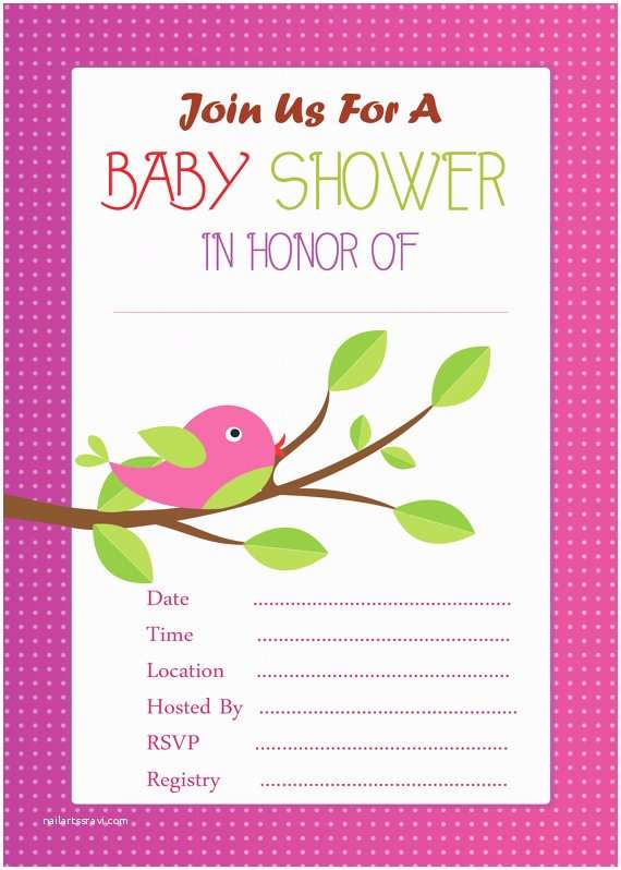 Fill In Baby Shower Invitations Cute Pink Baby Shower Invitation Instant Download Fill In Pink