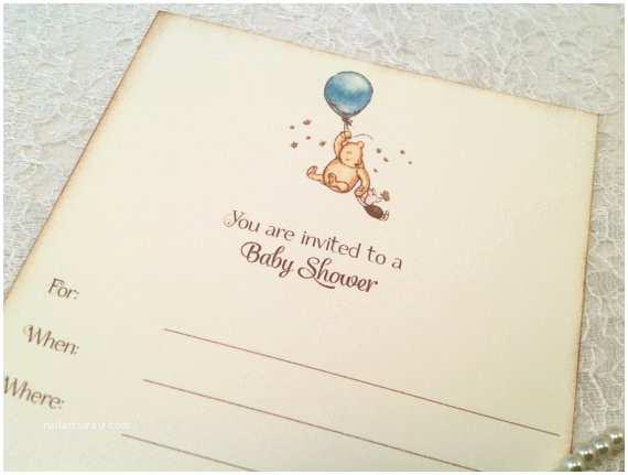 Fill In Baby Shower Invitations Fill In Blank Baby Shower Invitations Pooh Balloon Baby Shower