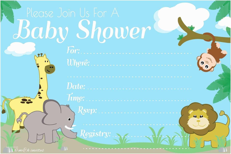 Fill In Baby Shower Invitations Jungle Safari Baby Shower Invitations Fill In Styl