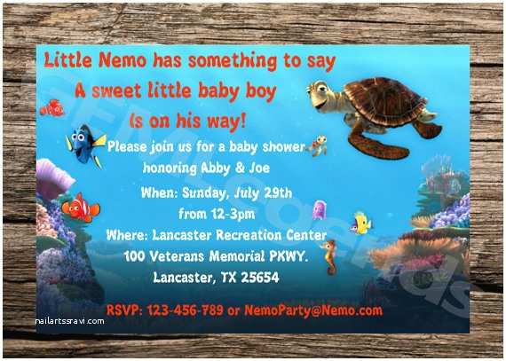 Finding Nemo Baby Shower Invitations Finding Nemo Baby Shower Invitation Finding Nemo Baby Shower