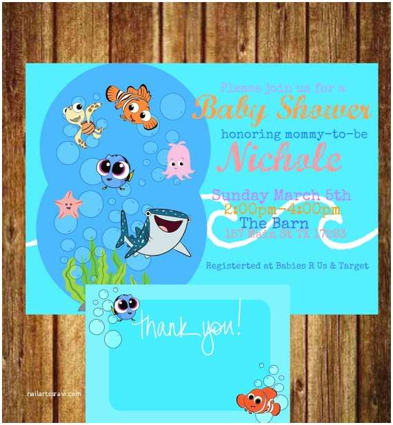 Finding Nemo Baby Shower Invitations Finding Nemo Baby Shower Invitation