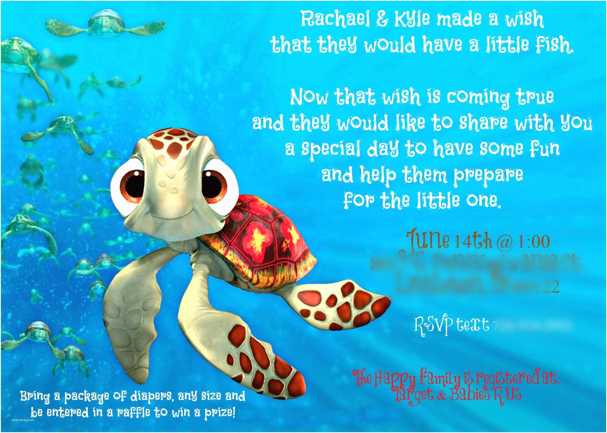 Finding Nemo Baby Shower Invitations Finding Nemo Baby Shower Invite