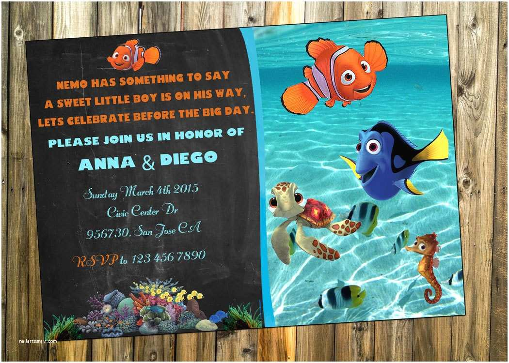Finding Nemo Baby Shower Invitations Free Printable Finding Dory Invitations Ideas