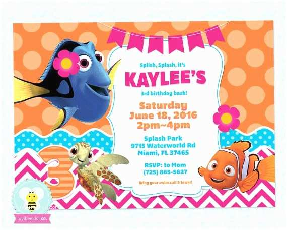 Finding Nemo Birthday Invitations 18 Best Finding Nemo & Dory Images On
