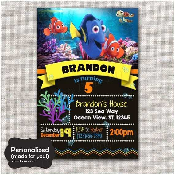 Finding Nemo Birthday Invitations 25 Best Ideas About Dory Finding Nemo On