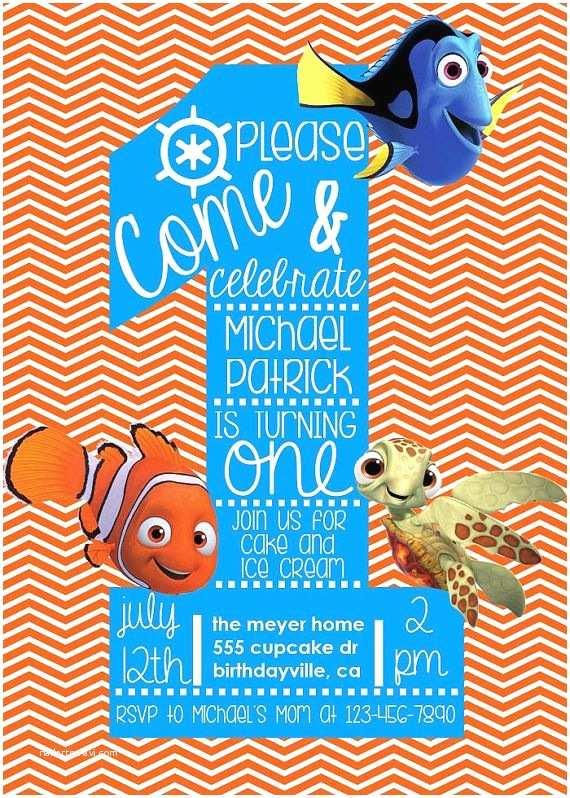 Finding Nemo Birthday Invitations Best 25 Finding Nemo Ideas On