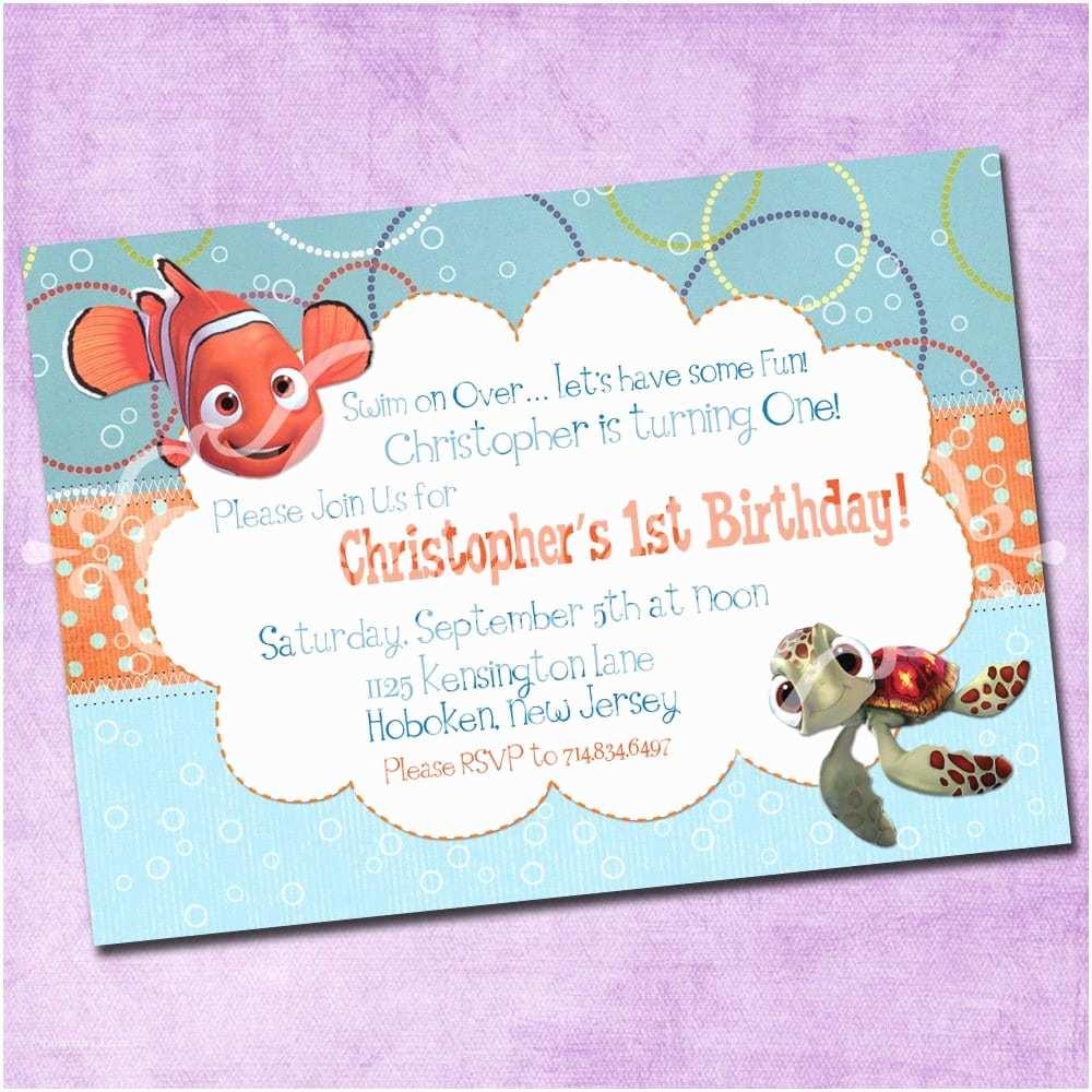 Finding Nemo Birthday Invitations Doc Finding Nemo Party Invitations â Finding Nemo