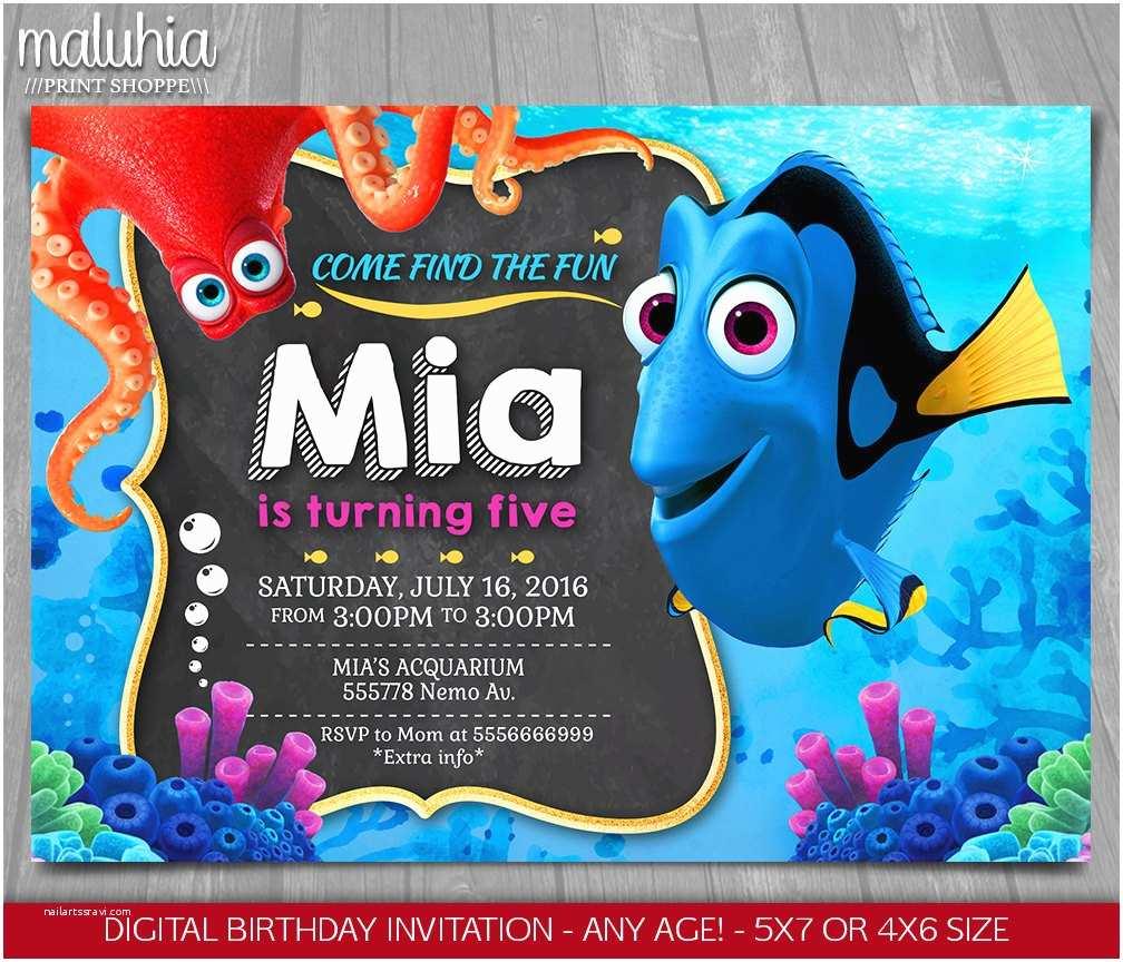 Finding Nemo Birthday Invitations Finding Dory Invitation Finding Nemo Invite Disney
